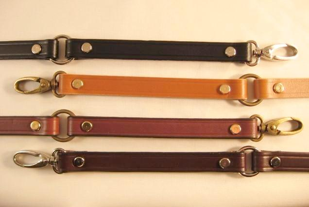 5/8 in. Leather Cross Body Messenger Bag Replacement Strap w/Rings - Choice of 4 Colors