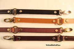 Leather replacement strap with rings. Shoulder purse handbag. Choice of colors