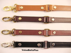 5/8 in. Leather Cross Body Bag Replacement Strap w/Loops - Choice of 4 Colors