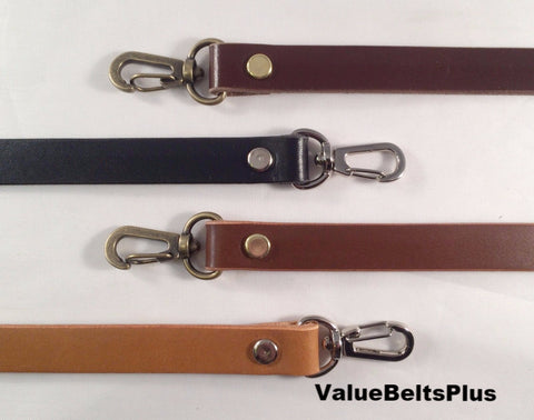 5/8 in. Leather Cross Body Bag Replacement Strap - Choice of 4 colors
