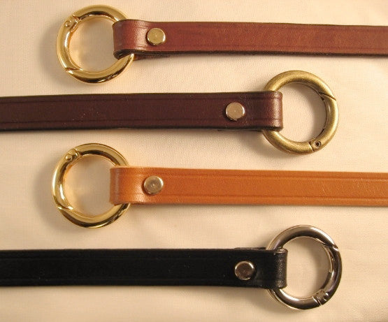 5/8 in. Leather Shoulder Purse Bag Replacement Strap w/Round Gate Rings Lengths: 18 inches  21 inches  24 inches  4 colors
