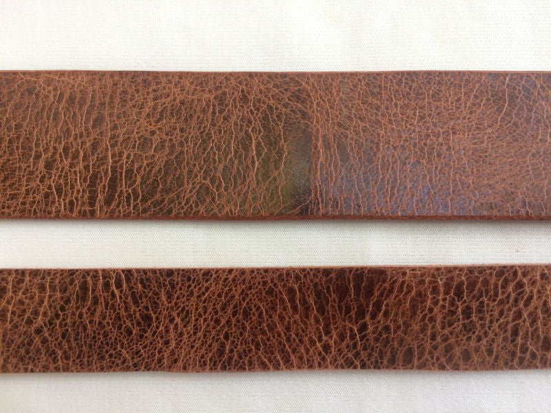 1 inch Leather Belt Blank Strip for Crafts 9 oz. Antique Brown