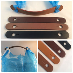 leather handle single use plastic bag