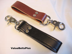 1 in. Wide Heavy Duty Leather Belt Loop Key Fob Tool Keeper - Choice of colors