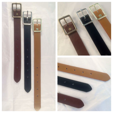 1 in. Wide Adjustable Leather Strap Extenders Extensions for Bags - 3 lengths