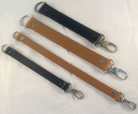 Leather Strap Extenders Extensions for Bags - 3 widths - 3 lengths