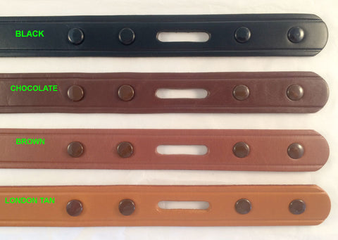 Snap-on Finished Leather Belt Blanks 9-10 oz. Choice of 4 colors & 2 widths