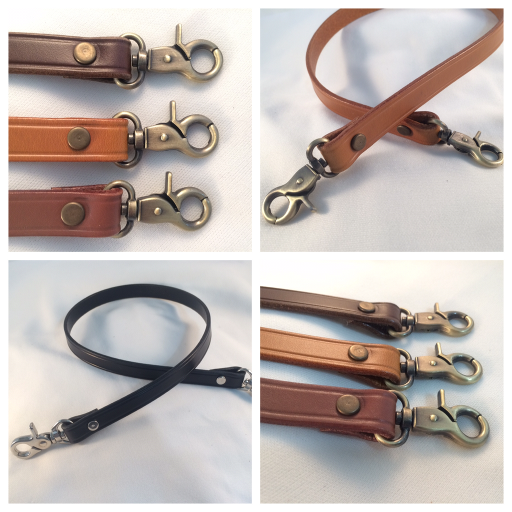 leather crossbody straps with trigger snap hook