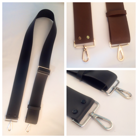 "2"" adjustable leather crossbody strap"