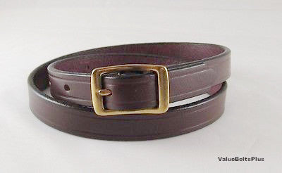 5/8 in. Thin Narrow Leather Womens Ladies Waisband Fashion Belt - Chocie of 4 Colors