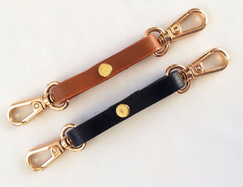 3/8 Leather Key Chain Purse or Bag Charm Lanyards - 4 Colors
