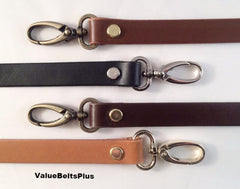 Brown Semetall 2 Pcs Leather Adjustable Double Buckle Sewing Replacement Purse Straps,Shoulder Bag and Handbag DIY Accessories