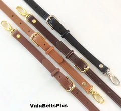 Adjustable Leather Cross Body Bag & Purse Straps - Choice of Widths, Lengths & Colors