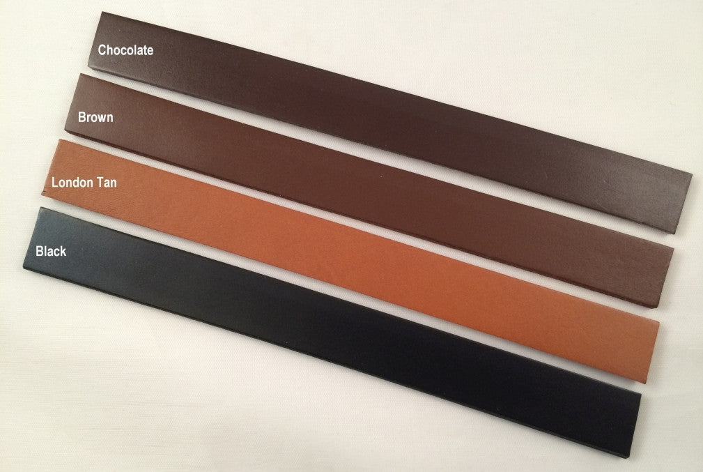 1/2 inch Wide Finished Leather Belt Strip Blank 8-9 oz. Choice of 4 colors