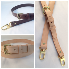 1 inch Adjustable vachetta leather replacement straps for Louis Vuitton Monogram
