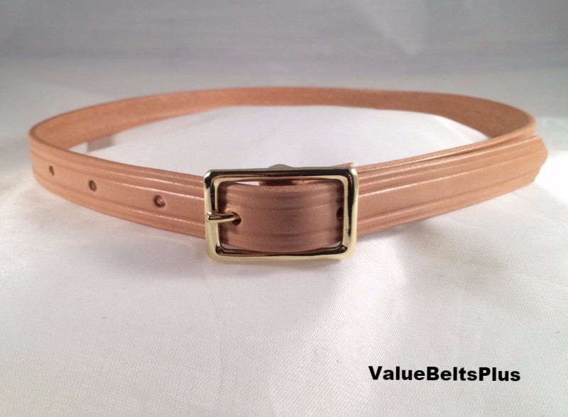 5/8 in. Narrow Vachetta Natural Leather Belt