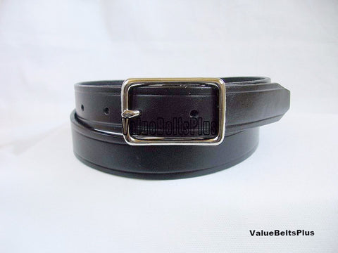 Leather cowhide garrison dress belt snap on buckle black brown tan dark