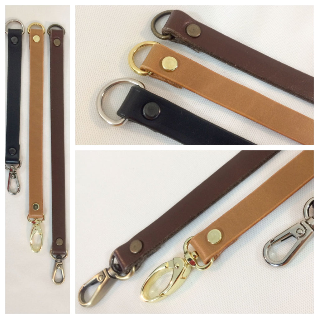 Leather Strap Extenders Extensions for Purse Bag Luggage Straps - 3 lengths