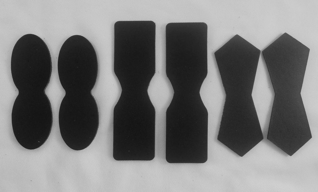 Black Leather Attachment Tabs for Bags Purses Handles or Straps
