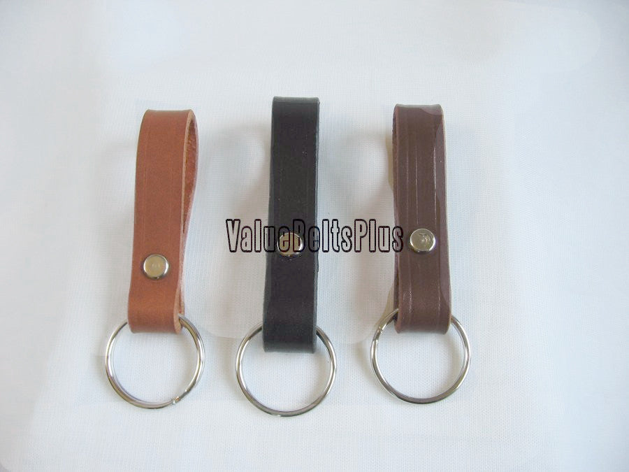 25 Lot Leather  Key Chain Ring Belt Keeper Fob - Choice of colors