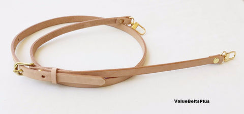 skinny thin vachetta leather adjustable strap LV Louis Vuitton style