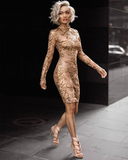 Alegra Gold Embellished Dress
