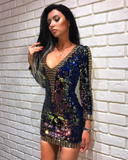 Galaxy Sequin Mini Dress