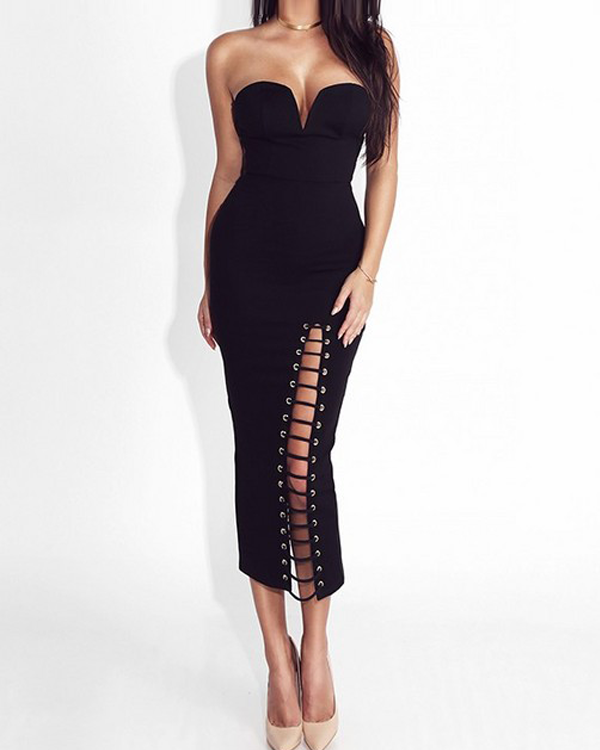 Giselle Bustier Midi Dress
