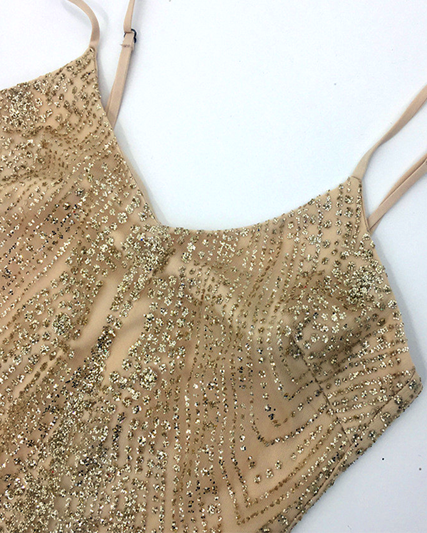 Ivy Diamond Glitter Dress | GOLD