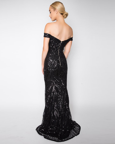 Lolitta Sequin Mermaid Gown | BLACK