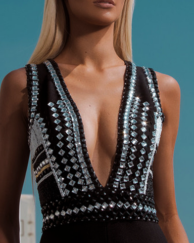 Movida Crystal Embellished Jumpsuit