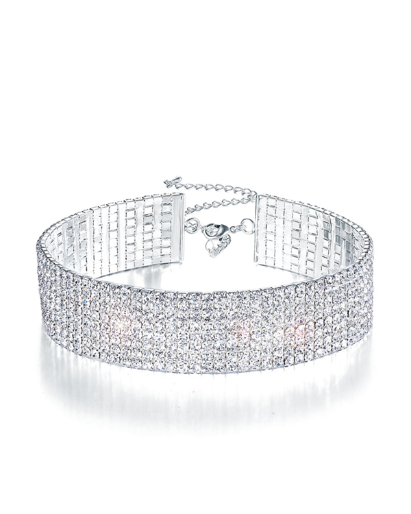 Paris Diamond Choker Necklace | 8 ROW