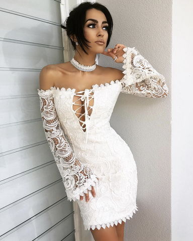 Ramona Lace Dress | WHITE