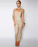 Soraya Sleeveless Glitter Jumpsuit