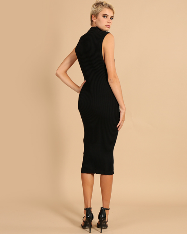 Vanae Ribbed Midi Dress