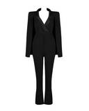 Royale Tailored Tuxedo Cape Jumpsuit