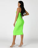 BADDIE Bodycon Dress | NEON GREEN