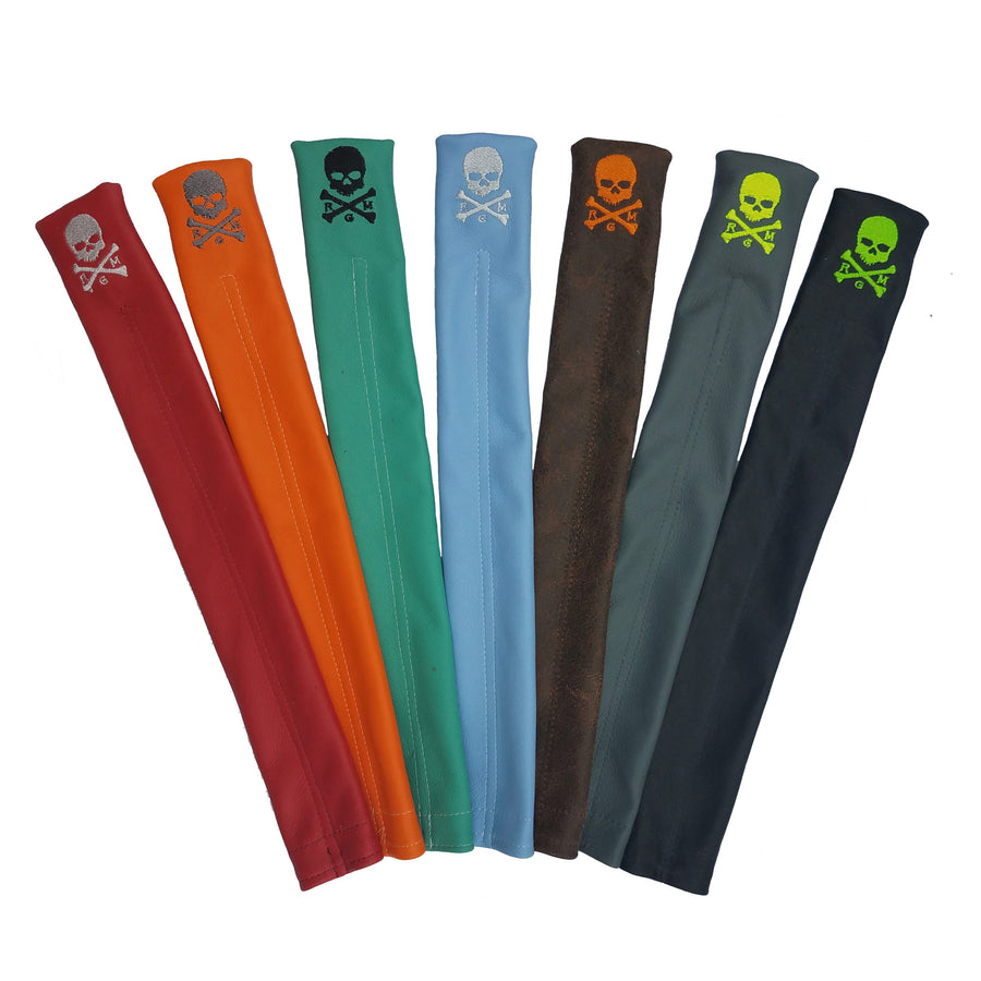 The RMG Skull & Bones Alignment Sticks Cover - Robert Mark Golf