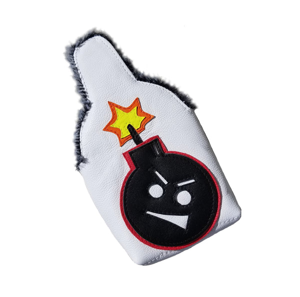 "Tour Model/Itsy Bitsy Spider ""Angry Bomb"" Putter Cover - Robert Mark Golf, The best custom golf headcovers,"
