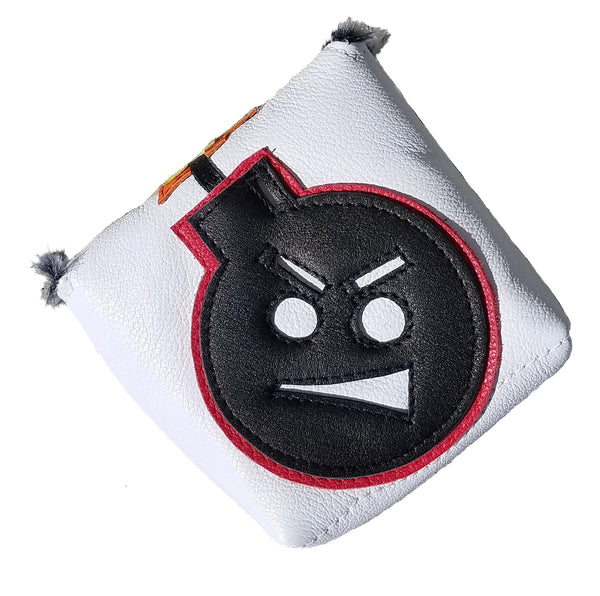 "NEW! Itsy Bitsy Spider ""Angry Bomb"" Putter Cover - Robert Mark Golf, Putter Cover - Custom leather headcovers, unique golf headcovers, the best leather headcovers, golf headcovers, putter covers, custom golf putter covers"