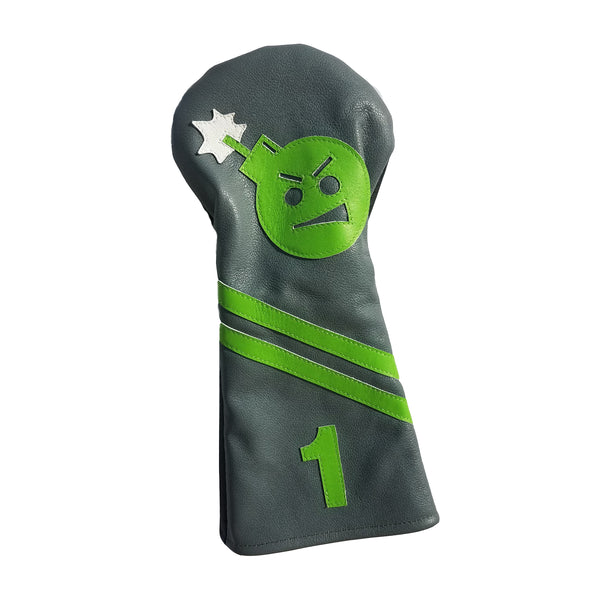 "One-Of-A-Kind! The ""Angry Bomb"" Driver Headcover - Robert Mark Golf, Headcovers - Custom leather headcovers, unique golf headcovers, the best leather headcovers, golf headcovers, putter covers, custom golf putter covers"