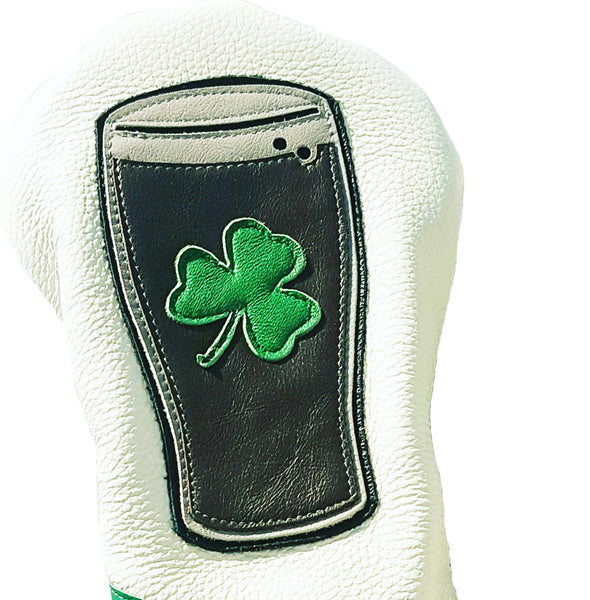 NEW! The Irish Pint Headcover - Robert Mark Golf, Headcovers - Custom leather headcovers, unique golf headcovers, the best leather headcovers, golf headcovers, putter covers, custom golf putter covers