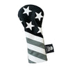 NEW! Monochromatic Skull & Bones USA Flag Headcover - Robert Mark Golf, The best custom golf headcovers,