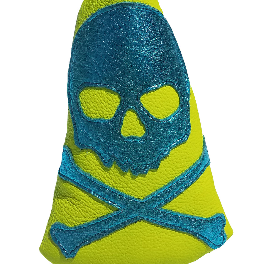 Limited Edition! The RMG Skull & Bones Neon Putter Cover - Robert Mark Golf