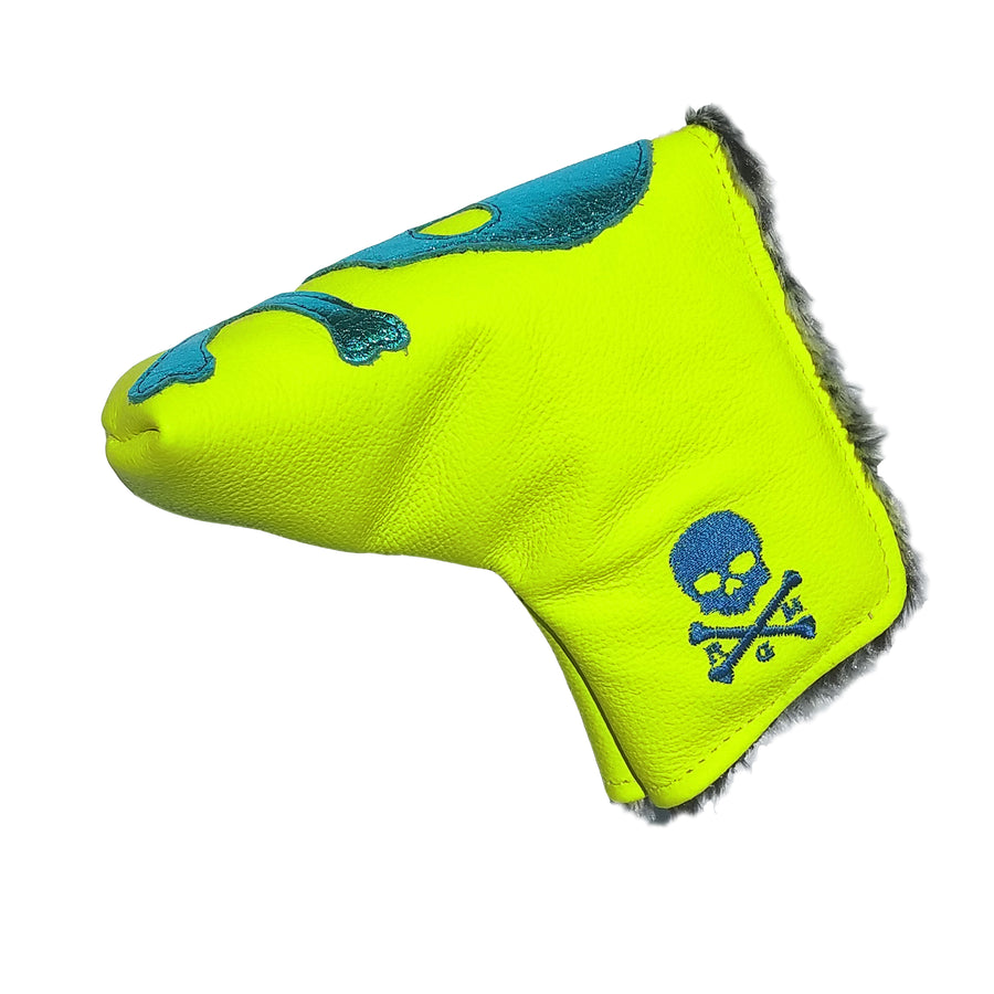Limited Edition! The RMG Skull & Bones Neon Putter Cover - Robert Mark Golf, The best custom golf headcovers,