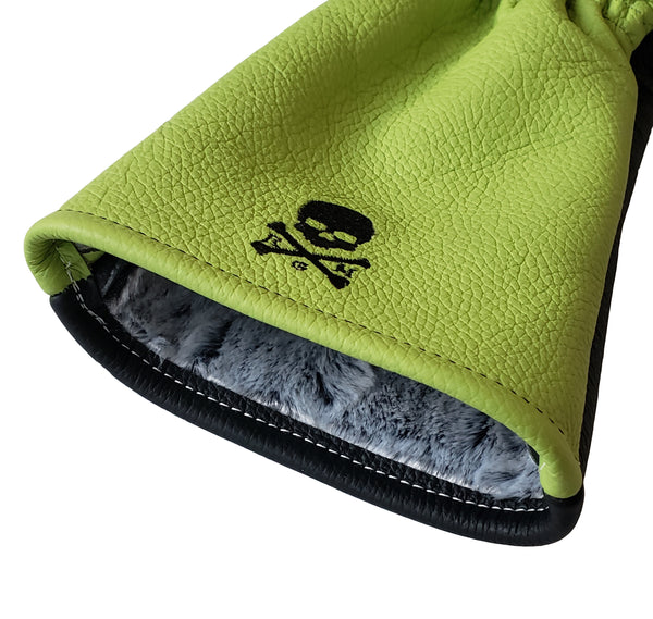 One-Of-A-Kind! Lime Green Skull & Bones Driver Headcover