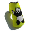 The Neon Yellow Panda With Guns Putter Cover - Robert Mark Golf, The best custom golf headcovers,