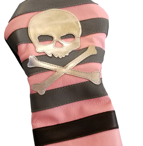 One-Of-A-Kind! The Rugby Stripe Driver Headcover - Robert Mark Golf, Headcovers - Custom leather headcovers, unique golf headcovers, the best leather headcovers, golf headcovers, putter covers, custom golf putter covers