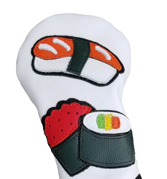 NEW! Sushi Menu Headcover - Robert Mark Golf,  - Custom leather headcovers, unique golf headcovers, the best leather headcovers, golf headcovers, putter covers, custom golf putter covers