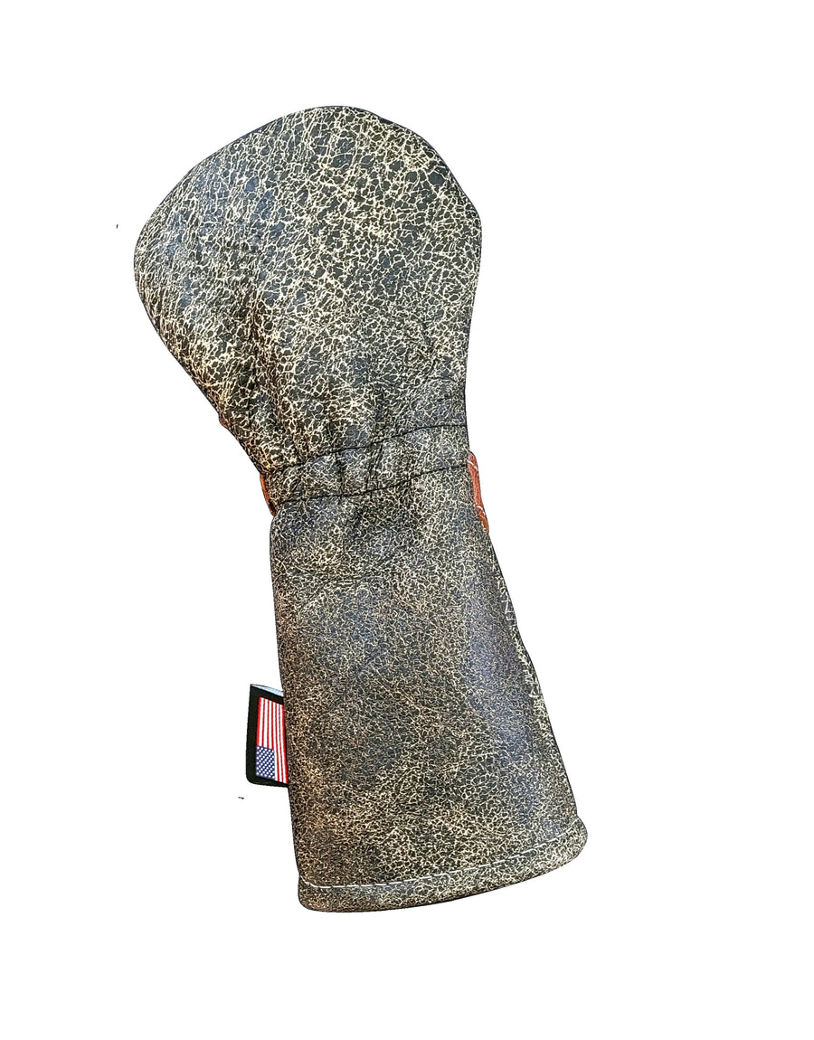 New! One-Of-A-Kind! Distressed Baseball Glove Skull & Bones Star Fairway Wood Headcover